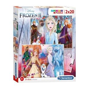Frozen Disney Frozen2 2 in 1 Puzzel - 2 x 20 stukjes - Clementoni