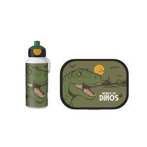 Dinosaurus Dino Lunchset: Broodtrommel met Pop-up Beker - Mepal