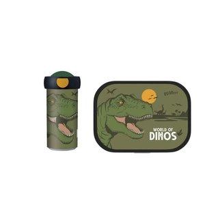 Dinosaurus Dino Lunchset: Broodtrommel met Schoolbeker - Mepal