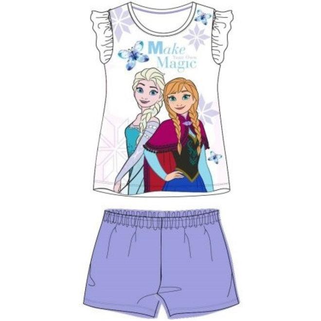 Disney Frozen Shortama - Paars/Wit