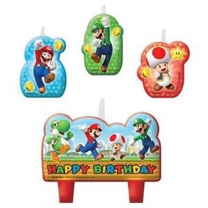 Super Mario Bros Super Mario Bros Verjaardagstaart Kaarsjes
