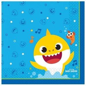 Baby Shark Baby Shark Servetten - 16 stuks