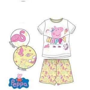 Peppa Pig Peppa Pig Shortama - Geel/Wit