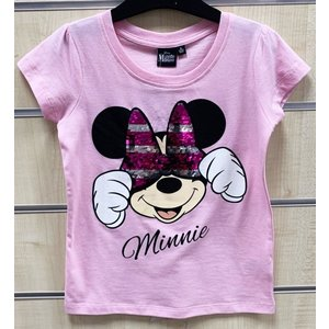 Minnie Mouse Minnie Mouse Paillettten T-Shirt - Roze