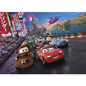 Cars Disney Cars Behang Race - 254 x 184 cm