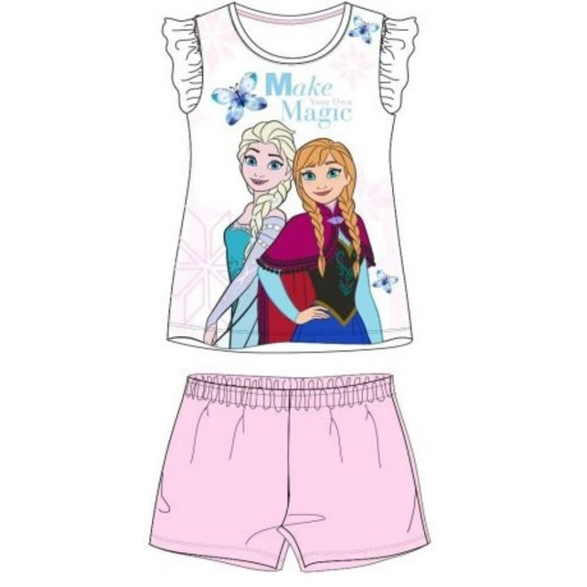 Disney Frozen Shortama - Roze/Wit