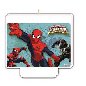 Spiderman Spiderman Verjaardagstaart Kaars