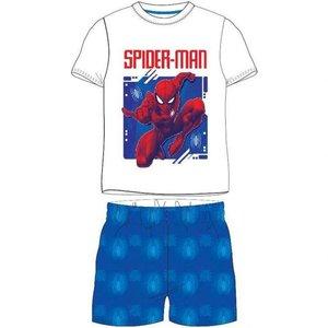 Spiderman Spiderman Shortama - Wit/Blauw