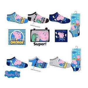 Peppa Pig Peppa Pig Sneakersokken George - 3 paar
