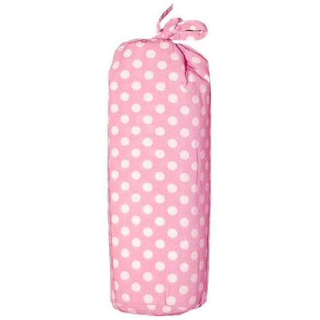 Hoeslaken 70 x 140 cm - Taftan - Roze Polkadots