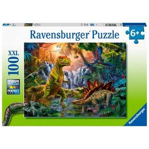 Dinosaurus Dinosaurus Puzzel Oase - 100 stukjes - Ravensburger
