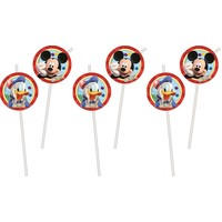 6 Mickey Mouse Rietjes