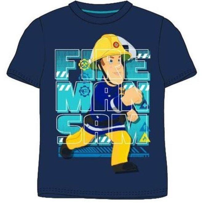 Brandweerman Sam T-shirt - Blauw
