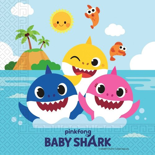 Baby Shark Baby Shark Servetten - 20 stuks