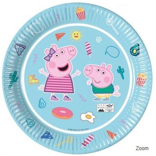 Peppa Pig 8 Peppa Pig Feestbordjes - Eco Friendly