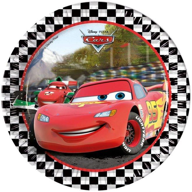8 kartonnen Disney Cars Bordjes - Formula