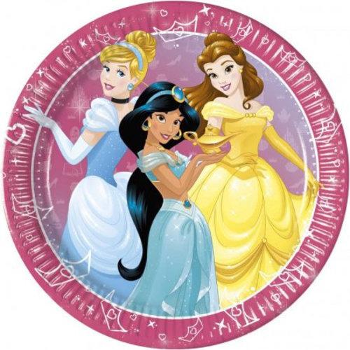 Disney Princess 8 Disney Princess Bordjes - 23 cm - Donker roze