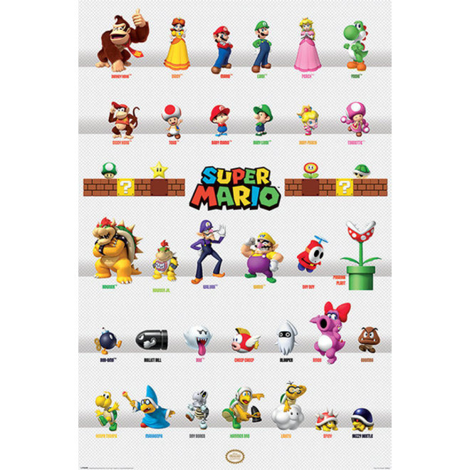 Super Mario Bros Karakters - Maxi Poster