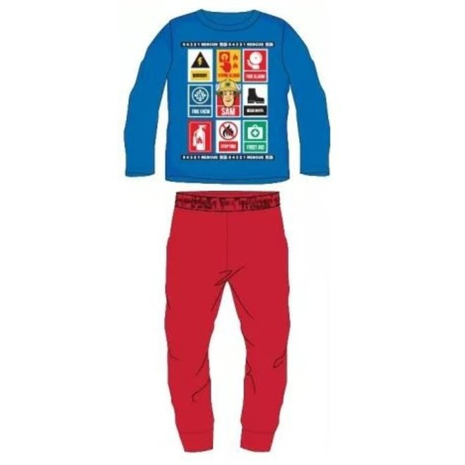 Brandweerman Sam Pyjama - Blauw/Rood