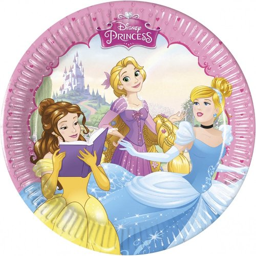 Disney Princess 8 Disney Princess Gebaksbordjes
