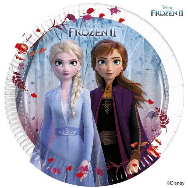 8 Disney Frozen Gebaksbordjes - Frozen2