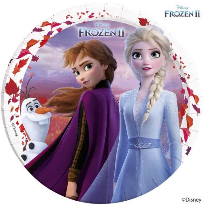 8 Disney Frozen Feestbordjes - Frozen2
