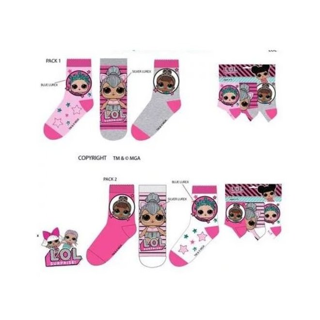 LOL Surprise Sokken - 3 paar