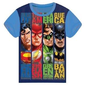 Batman & Superman Justice League T-shirt - Licht Blauw