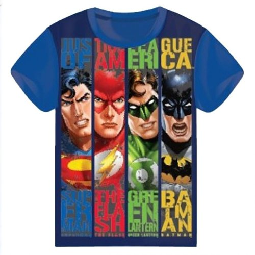 Batman & Superman Justice League T-shirt - Donker Blauw