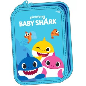 Baby Shark Baby Shark Gevulde Etui - 2 laags