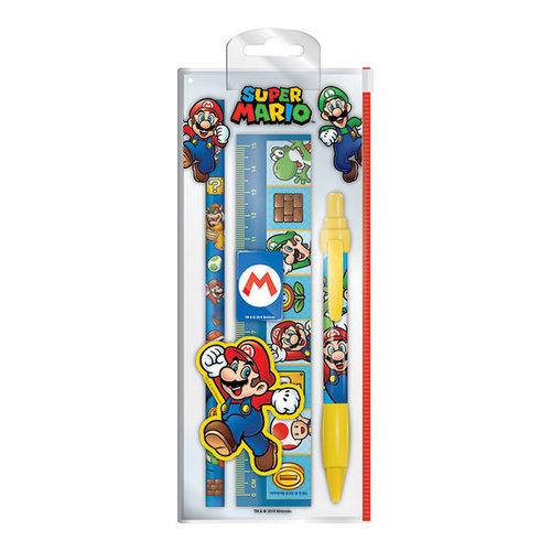 Super Mario Bros Super Mario Bros Stationary Set - 5 Delig