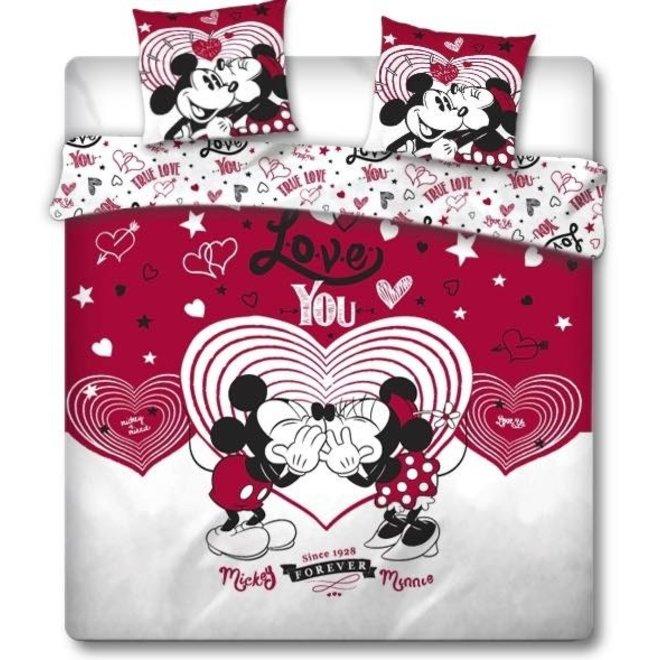 Mickey en Minnie Mouse Dekbedovertrek 240 x 220 cm - Lits Jumeaux