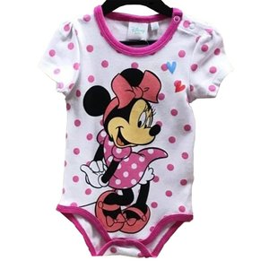 Minnie Mouse Minnie Mouse Rompertje Wit korte Mouw - Disney Baby