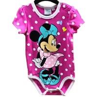 Minnie Mouse Rompertje Roze Korte Mouw - Disney Baby