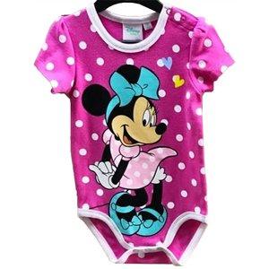 Minnie Mouse Minnie Mouse Rompertje Roze Korte Mouw - Disney Baby