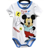 Mickey Mouse Rompertje Korte Mouw - Disney Baby