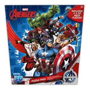 Avengers Avengers 4 in 1 3D Superhelden Puzzel - 4 x 24 stukjes