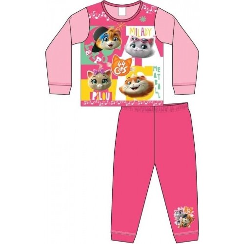 44 Cats 44 Cats Pyjama - Roze/Roze