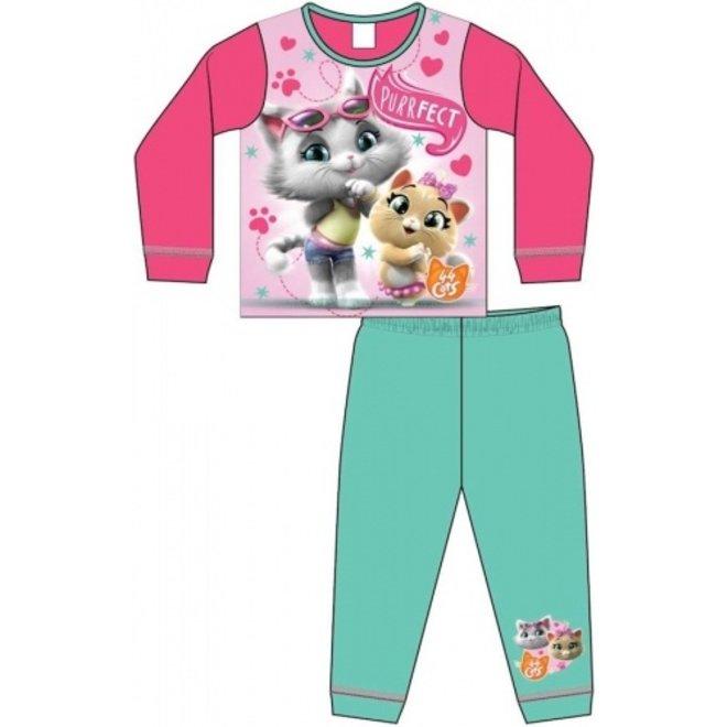 44 Cats Pyjama - Mint/Roze