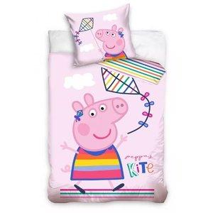 Peppa Pig Peppa Pig Baby Dekbedovertrek 100 x 135 cm - Vlieger
