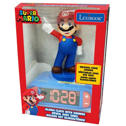 Super Mario Bros Super Mario Wekker met Nachtlampje en Geluiden
