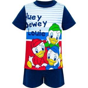 Donald Duck Donald Duck Baby Shortama Kwik, Kwek, Kwak - Donker Blauw