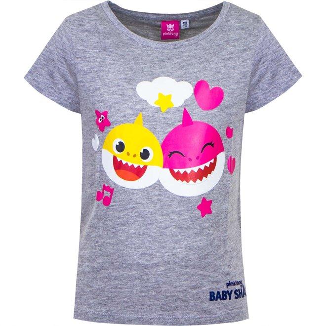 Baby Shark T-shirt - Grijs