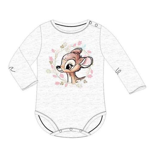 Bambi Bambi Rompertje Grijs Lange Mouw - Disney Baby