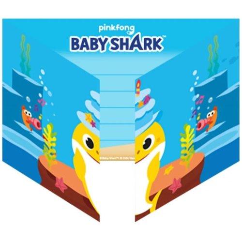 Baby Shark 8 Baby Shark Uitnodigingen Kinderfeestje