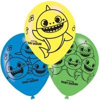 6 Baby Shark Ballonnen