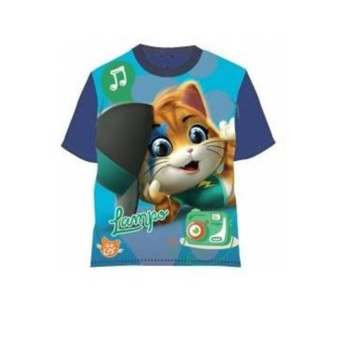 44 Cats T-shirt - Donker Blauw