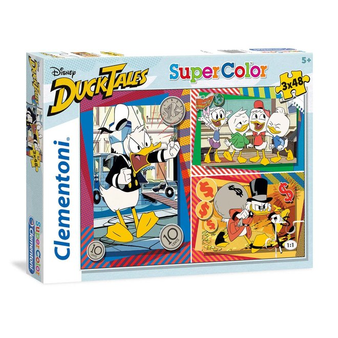 Duck Tales 3 in 1 Puzzel - 3 x 48 stukjes - Clementoni