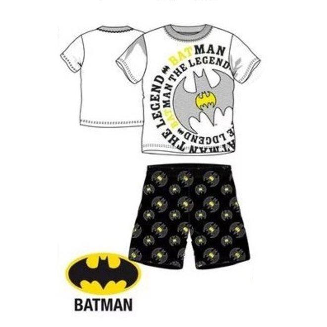Batman Shortama - Wit/Zwart