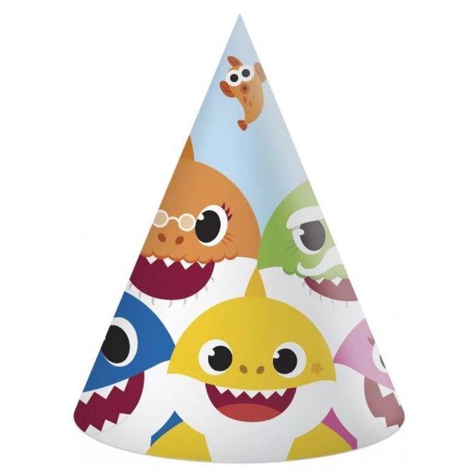 6 Baby Shark Feesthoedjes - Pinkfong